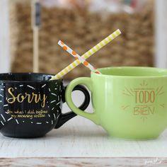 Tazas para regalar con mensajes divertidos... envíamos a todo México en www.pomelio.com