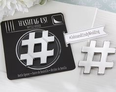 Hashtag Us! Bottle Opener (Available Personalized)