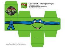 Leonardo Caixa Box Quadrada Tartaruga Ninjas