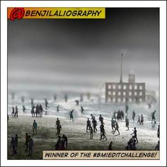 """1st winner of the #bmieditchallenge /BMI Pinterest Contest -    """"@benjilaliography with his dark, sultry edit of a Casablanca beach"""""""