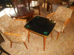 220 zł: Witam sprzedam piekny stolik patyczak z czasow PRLu lata 70 zachowany w super stanie,  wykonany z czarnej szyby z zielonymi zdobieniami. obwodka metalowa, nogi stabilne drewniane wymiary 56x56, wy... Coffe Table, Furniture, Design, Home Decor, Homemade Home Decor, Home Furnishings, Interior Design, Design Comics