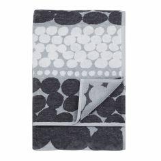 Marimekko Jurmo Grey Bath Towel - Marimekko Jurmo Towels
