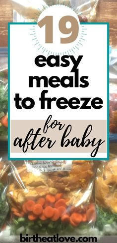 Freezer Cooking Recipes for after baby arrives. Make these freezer meals in the third trimester to get prepared for baby. Easy and healthy post baby meals for new moms. Make ahead meals to freeze and put in the crock pot. No pre cooking required. Vegetarian Freezer Meals, Make Ahead Freezer Meals, Dump Meals, Freezer Recipes, Freezer Cooking, No Cook Meals, Baby Food Recipes, Cooking Recipes, Crockpot Meals