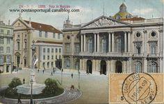 Camara e Praça do Municipio em postais antigos