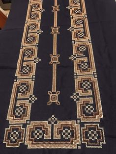 Lace Patterns, Cross Stitches, Kurti, Hand Embroidery, Bohemian Rug, Rugs, Crafts, Black, Home Decor