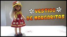 Vestido de Margaritas para Nancy Vestidos Nancy, Disney Animator Doll, Wellie Wishers, Barbie And Ken, Barbie Dress, Bjd Dolls, American Girl, Doll Clothes, Knit Crochet