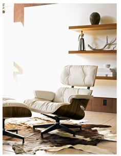 Eames Lounge Chair and Ottamn (1956)