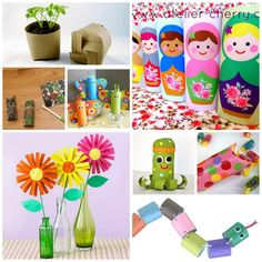 Art i have become obsessed with the toilet paper rolls... look at all the fun crafts for kids! family-friendly-ideas