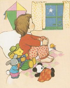"""Mabel Lucie Attwell illustration from """"Lucie Attwell's New Book of Rhymes"""", Dean 1974, reprinted 1983."""