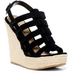 f4c4ba60aa01 Chinese Laundry Dance Party Platform Wedge Sandal ( 45) ❤ liked on Polyvore  featuring shoes