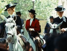 In the saddle: The Duchess of Alba on horseback with Jackie Kennedy, sporting traditional Andalusian riding outfits, during Jackie's visit to Sevilla, Spain in Los Kennedy, Jacqueline Kennedy Onassis, Edie Bouvier Beale, Betty Ford, David Hicks, Cecil Beaton, Christy Turlington, Alba, Equestrian Style