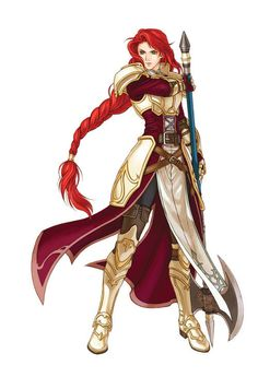 warrior armor Titania from fire emblem game