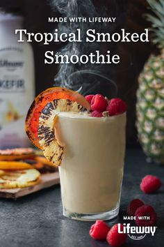 It's made with Vanilla Whole Milk Kefir, a fermented superfood that perfectly complements this citrus fruit blend with its zippy tanginess. Cream Soda, Ice Cream, Healthy Food Choices, Healthy Recipes, Grapefruit Smoothie, Smoking Chips, Farmers Cheese, Grilled Fruit, Kefir