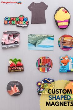Custom shaped magnets are suitable for all types of promotion. These promotional magnets are made in USA Refrigerator Magnets, Shapes, How To Make