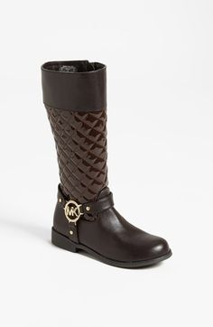 MICHAEL Michael Kors 'Emma' Quilted Boot (Toddler, Little Kid & Big Kid) available at #Nordstrom