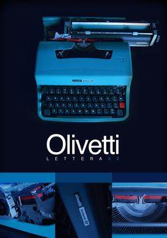Olivetti Typewriter Poster 2 by ACSmithy