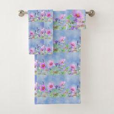 Women's trendy wild flower towel set - trendy gifts cool gift ideas customize