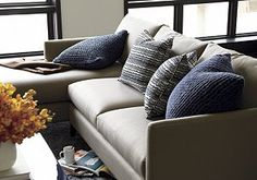 Klyne 2-Piece Sectional (Left Arm Chaise, Right Arm Apartment Sofa) Crate and barrel!