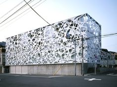 Thom Faulders has created an exterior building skin for a new four storey multi-family dwelling unit with photography studios in Tokyo, Japan designed by Hajime Masubuchi of Studio M Building Skin, Building Facade, Building Design, Architecture Design, Facade Design, Architecture Interiors, Biophilic Architecture, Facade Pattern, Metal Screen