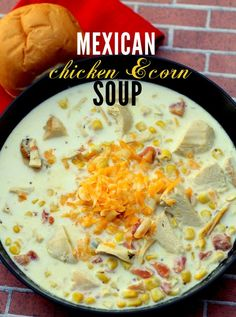 Delicious Mexican Chicken and Corn Soup Recipe, and several other soup recipes.    This one could be low Ww  with a few changes that wouldn't affect taste.