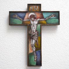 Glass Artwork, Spiritual Gifts, Opaline, Art Deco Design, Crucifix, Religious Art, Wooden Frames, Jesus Christ, Catholic