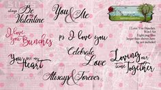 I Love You Bunches word art