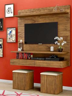 Modern furniture for television: 8 sensational ideas that you can easily adapt in your home! Room Design, Tv Wall Design, Home Decor, Tv Room Design, Living Room Tv Unit Designs, Wall Design, Wall Tv Unit Design, Tv Wall Decor, Living Room Designs