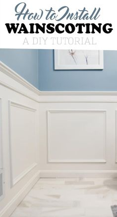 Home Interior Cuadros Installing wainscoting adds an elegance to a room you can't get any other way. DIY project tutorial for classic box wainscoting. Installing Wainscoting, Dining Room Wainscoting, Wainscoting Styles, Wainscoting Panels, Dining Room Walls, Black Wainscoting, Wainscoting Nursery, Painted Wainscoting, Dining Room Paneling