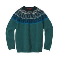 Knitwear – Ocean Wave sweater green donna wilson