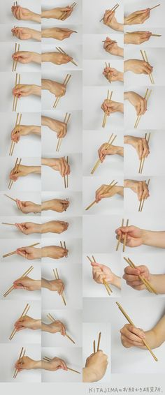 Use chopsticks with right hand Drawing Practice, Drawing Hands, Drawing Poses, Drawing Tips, How To Hold Chopsticks, Using Chopsticks, Human Reference, Reference Images, Photo Reference