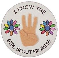 I know this is for Girl Scouts but you could alter it for Boy/Cub Scouts. Have the kids make their own pin after learning the the Scout Promise.