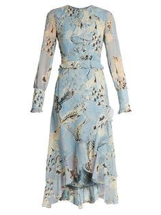 ERDEM Meg Silk-Voile Dress. #erdem #cloth #dress