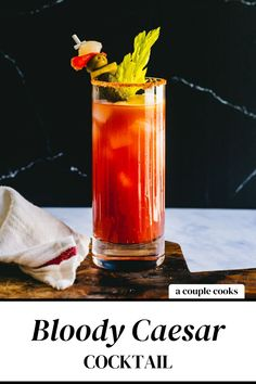The Bloody Caesar drink is a Canadian version of the Bloody Mary! Clam juice makes this signature brunch cocktail unique.   alcoholic drinks   drinks   cocktails   vodka cocktails   clamato juice cocktails   canadian cocktails   #caesar #caesardrink #bloodycaesar #caesarcocktail #bloodymary Best Vodka Cocktails, Vodka Mixed Drinks, The Best Vodka, Champagne Drinks, Cocktails To Try, Blended Drinks, Best Cocktail Recipes, Refreshing Cocktails, Bar Drinks