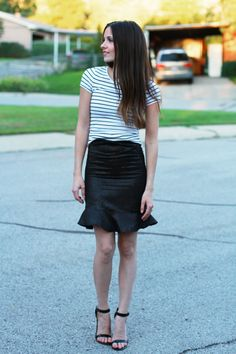#DIY skirt with flounce from Cotton and Curls. #sewing
