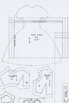 https://flic.kr/p/nouh52 | Hanky Dress Set Pattern | Here, you can find and upload my free pattern. The document size is A4, tiles represent 1/2cm.