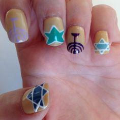 20 #Fantastic Hanukkah Nail Art #Designs to Help You #Celebrate ...