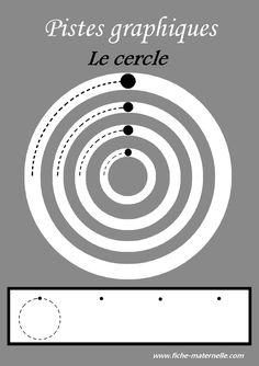 Des pistes graphiques à plastifier pour apprendre à écrire : le cercle