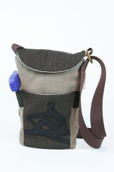 FOR ROWERS - ready to ship - unisex - rowing tool bag - bag for men - brown - rowing pattern - for rowers, scullers by BagitBag on Etsy