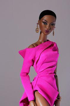 The fourth W club Fashion Royalty doll for Faces of Adele gift set Beautiful Black Babies, Beautiful Dolls, Barbie Dress, Barbie Clothes, Barbies Dolls, Barbie Cake, Dolls Dolls, Fashion Royalty Dolls, Fashion Dolls