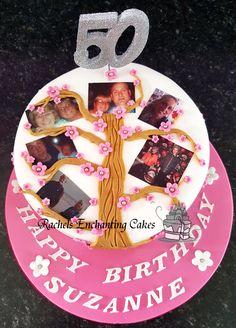 Family Tree 50th Birthday Cake by Rachels Enchanting Cakes www.rachelsenchantingcakes.com