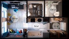 Шкафы купе : Как превратить 30 «квадратов» в яркую, стильную и ...
