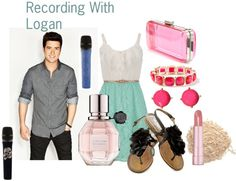 """""""In the studio with Logan ^_^"""" by applesaucealysia ❤ liked on Polyvore"""