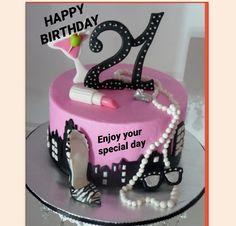 21st birthday greeting cards – wanaabeehere Girly Cakes, Fancy Cakes, Cute Cakes, 21st Birthday Cake For Girls, 21st Bday Ideas, 21 Birthday, Cake Birthday, 21st Birthday Ideas For Girls Turning 21, Happy Birthday