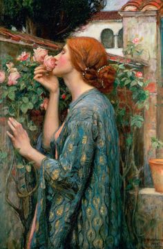 Soul of the Rose John William Waterhouse(1849-1917), a Pre-Raphaelite English painter