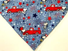 Red White and Blue Stars Over the Collar Dog Bandana Extra Small