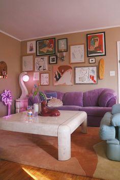 Pastel Room, Pastel House, Pastel Living Room, Pastel Colors, Room Ideas Bedroom, Bedroom Decor, Cozy Living Rooms, Living Room Decor, Living Room 80s