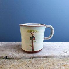 Large Treehouse Mug от JuliaSmithCeramics на Etsy