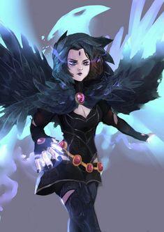 52 Super Ideas For Funny Supernatural Wallpaper Raven Teen Titans Go, Teen Titans Fanart, Raven Beast Boy, Raven Cosplay, Supernatural Wallpaper, Dc Heroes, Marvel Dc Comics, Anime Characters, Just In Case