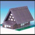 Shirakawa House Free Building Paper Model Download