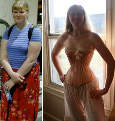 2995a488570 Wearing Corsets Every Day. Corset Before And AfterWaist Training ...